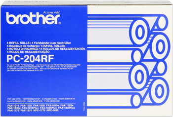 Farbband f. Brother Fax 1010/20/30 [PC-204RF] 4er VE black