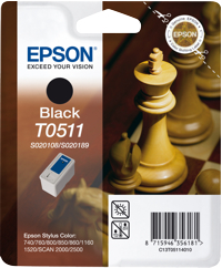 Tinte f. Epson Stylus Color 800/1520 [T051140] (Alt:SO20108+SO20189) black