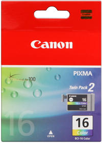 Tinte f. Canon Pixma iP90 [BCI-16C] 2er VE color