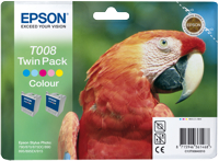 Tinte f. Epson Stylus Photo 870/880 [T008403] Twinp. color