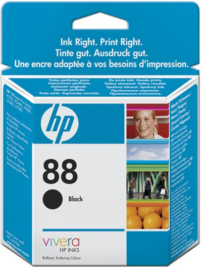 Tinte f. HP Officejet Pro K550/5400 [C9385A] Nr.88 black