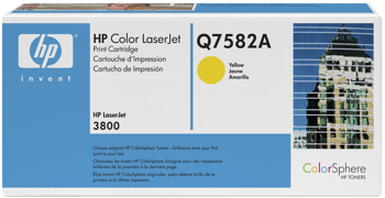 Toner f. HP Color LaserJet 3800 [Q7582A] Nr.503A yellow