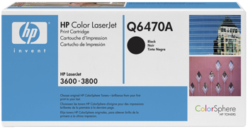 Toner f. HP Color LaserJet 3600/3800 [Q6470A] Nr.501A black