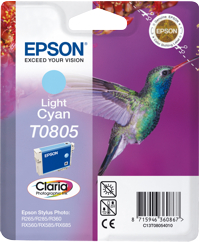 Tinte f. Epson Stylus Photo R265 [T080540] cyan-light