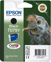 Tinte f. Epson Stylus Photo 1400 [T079140] black