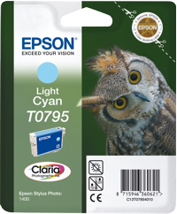 Tinte f. Epson Stylus Photo 1400 [T079540] light-cyan