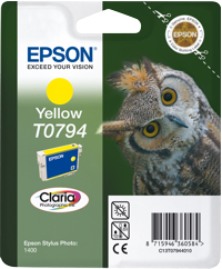 Tinte f. Epson Stylus Photo 1400 [T079440] yellow