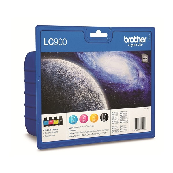 Tinte f. Brother MFC-210C [LC-900VALBP] Multipack schwarz, cyan, magenta, yellow