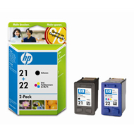 Tinte f. HP Deskjet 3940 [SD367A] Multipack Nr.21/Nr.22 (C9351A/C9352A) black/color