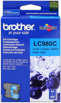 Tinte f. Brother DCP-145C [LC-980C] cyan