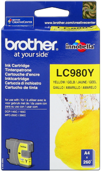 Tinte f. Brother DCP-145C [LC-980Y] yellow