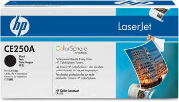 Toner f. HP Color LaserJet CP3525 [CE250A] Nr.504A black