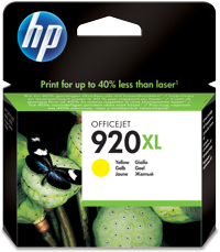 Tinte f. HP Officejet 6500 [CD974A] HC Nr.920XL yellow