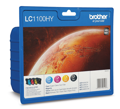 Tinte f. Brother MFC-5890 [LC-1100HYVALBP] HC Multip. black, cyan, magenta, yellow