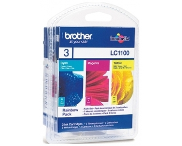 Tinte f. Brother MFC-5890 [LC-1100RBWBP] Multip. cyan, magenta, yellow