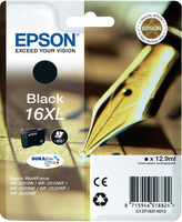 Tinte f. Epson WorkForce WF-2540 [T1631]  16XL HC black