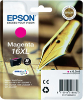 Tinte f. Epson WorkForce WF-2540 [T1633] 16XL HC magenta