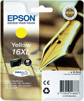 Tinte f. Epson WorkForce WF-2540 [T1634] 16XL HC yellow