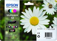 Tinte f. Epson Expression Home XP-30 [T1806] Multip. black, cyan, magenta, yellow