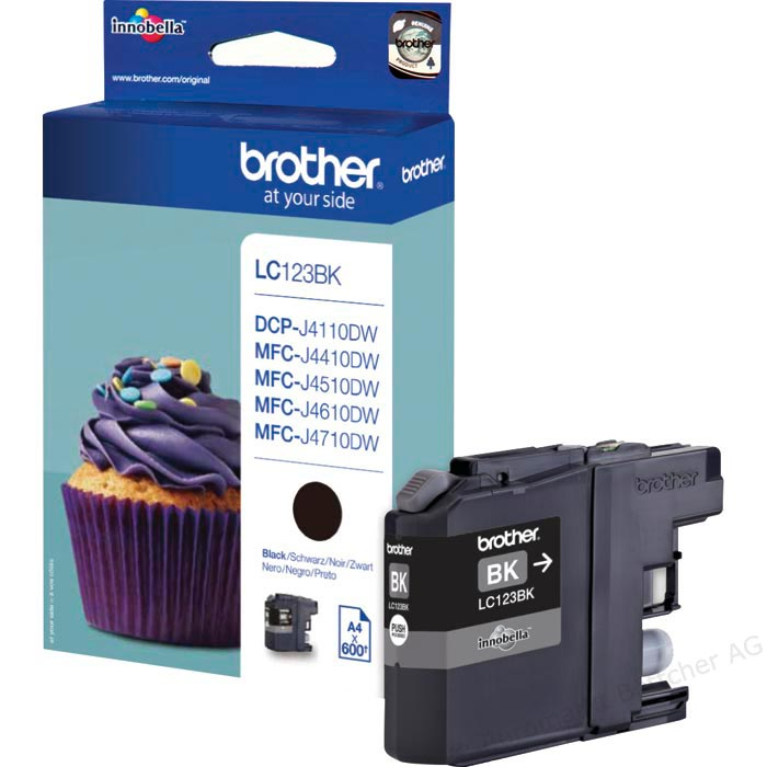 Tinte f. Brother MFC-J 4510 [LC-123BK] black