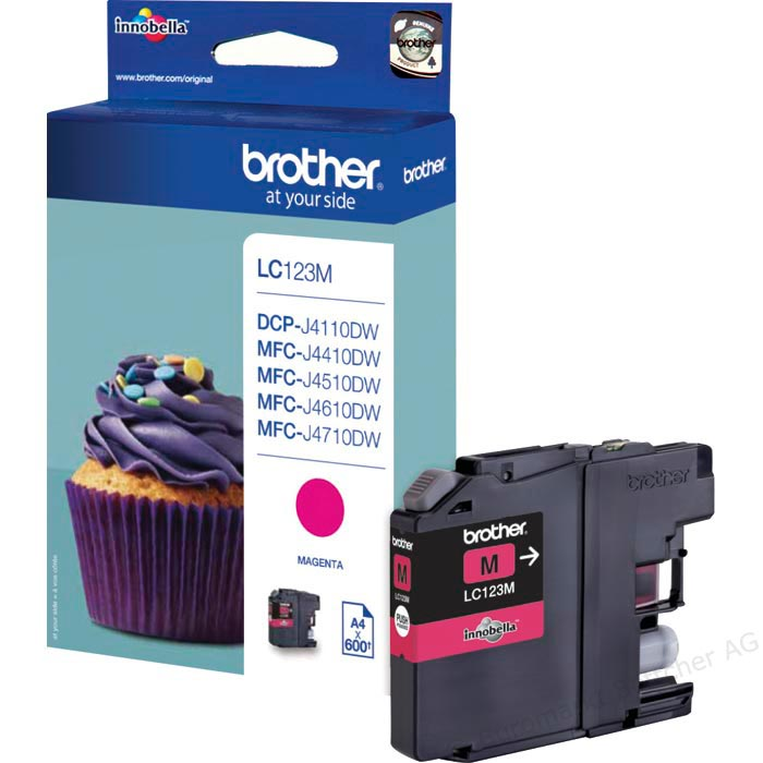 Tinte f. Brother MFC-J 4510 [LC-123M] magenta