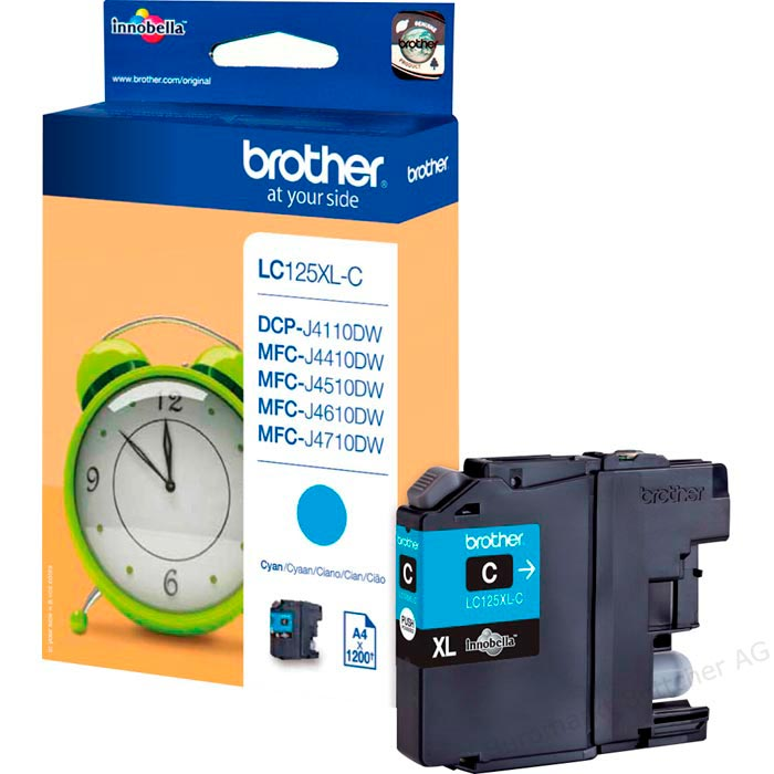 Tinte f. Brother MFC-J4510 [LC-125XLC] HC cyan