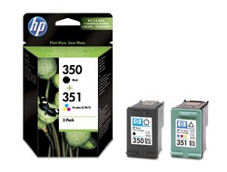 Tinte f. HP Deskjet 4260 [SD412E] Multipack Nr.350/Nr.351 (CB337E/CB335E) black/color