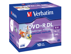 DVD+R 8,5GB 8x Verbatim [43665] 10er VE Jewelcase
